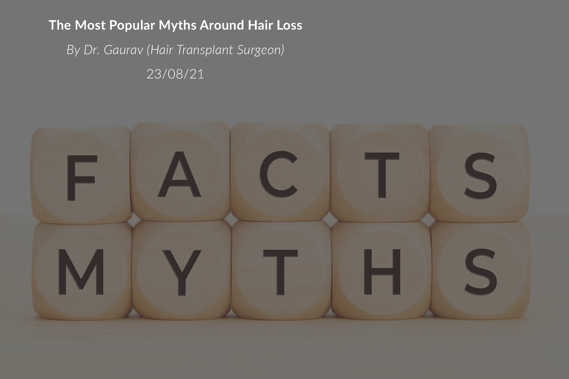 The Most Popular Myths Around Hair Loss